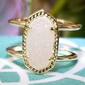 Kendra Scott, Elyse, Iridescent Drusy, Ring